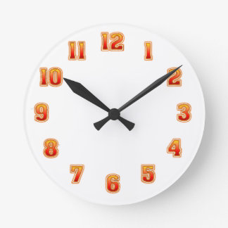 Yellow Red Blend Clock Template.