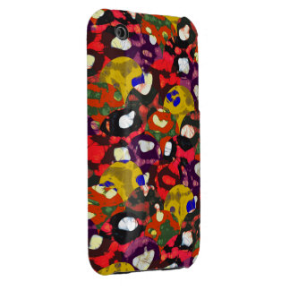 Yellow Red Cheetah Abstract iPhone 3 Case-Mate Cases