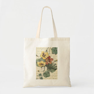 Yellow Red Flower Vine Tote Bag