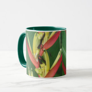 Yellow Red Heliconica Bird of Paradise Mug