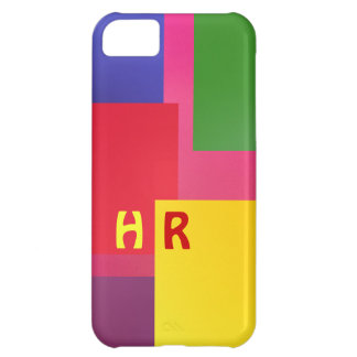 Yellow Red Monogram iPhone 5C Case