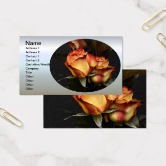 Yellow Red Rose Business Card