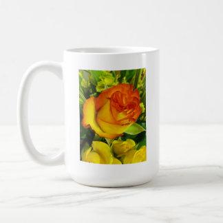 Yellow Red Rose Coffee Mug