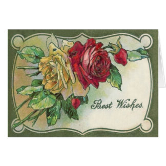 Yellow Red Roses Rose Greeting Card