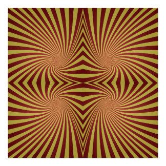 Yellow red spiral pattern photo