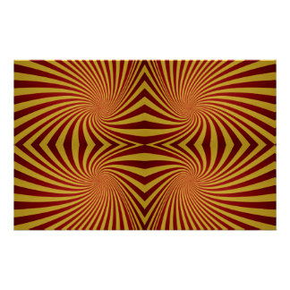 Yellow red spiral pattern stationery