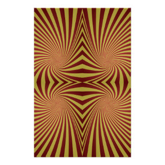 Yellow red spiral pattern stationery paper