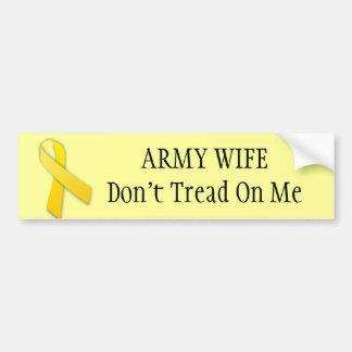 yellow ribbon, ARMY WIFEDon't Tread On Me Car Bumper Sticker