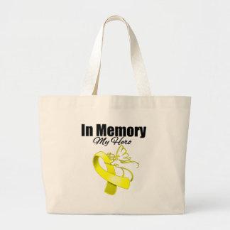 Yellow Ribbon In Memory of My Hero Bags