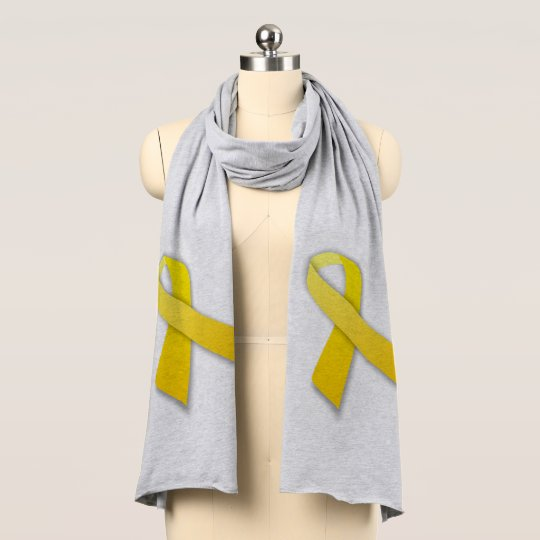 Yellow Ribbon Jersey Scarf