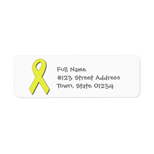 Yellow Ribbon Mailing Labels