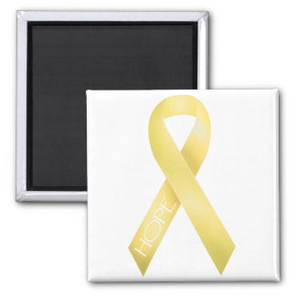 Yellow Ribbon Square Magnet