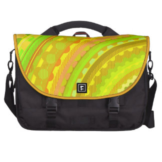 Yellow Rings Bags For Laptop