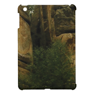 yellow rock face with trees case for the iPad mini