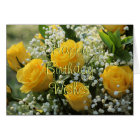 Yellow Rose 2007-2- customise any occasion Card