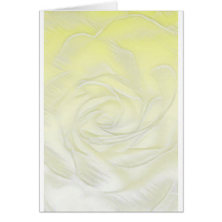 Yellow Rose Abstract Card