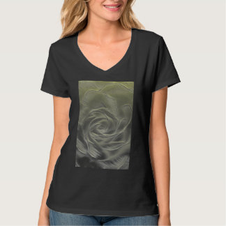 Yellow Rose Abstract T-Shirt
