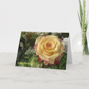 Yellow Rose Birthday Cards Zazzle Com Au