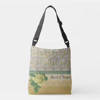 Yellow Rose Best Bridesmaid Gift Crossbody Bag