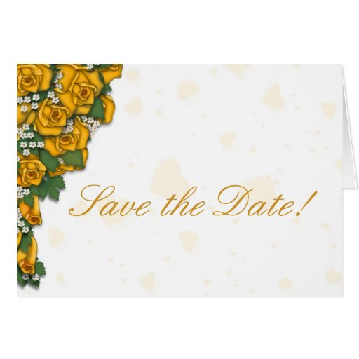 Yellow Rose Bouquet Save the Date Cards