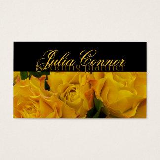 Yellow Rose Bouquet Wedding Planner Business Card