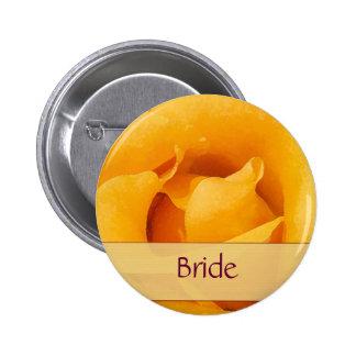 Yellow Rose Bride Button