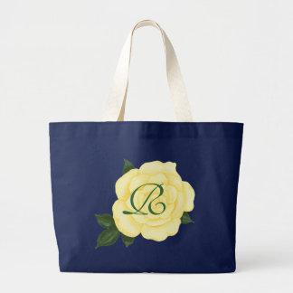 Yellow Rose, Bridesmaid Monogram Tote Bags