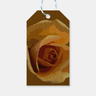 Yellow Rose Brown Gift Tag