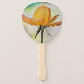 Yellow Rose Bud Hand Fan