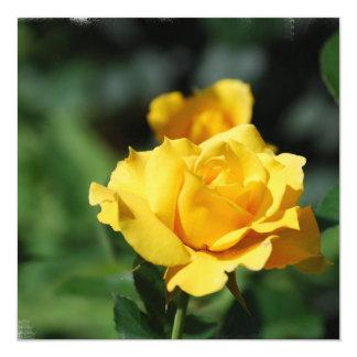Yellow Rose Bud Invitations
