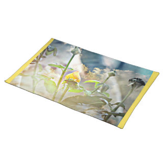Yellow Rose Bud Place Mats