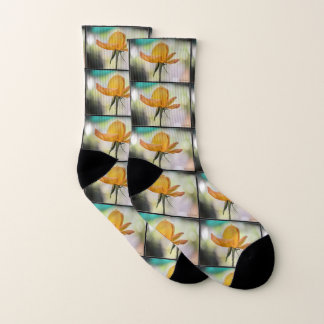 Yellow Rose Bud Socks