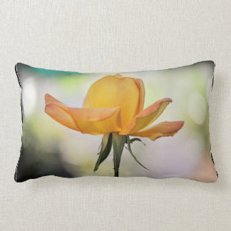 Yellow Rose Bud Throw Pillow