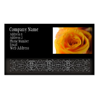 Yellow Rose Close Up Business Cards