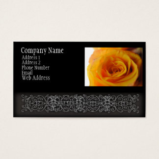 Yellow Rose Close Up Business Card