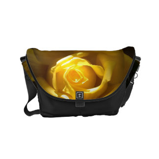 Yellow Rose Close Up Purse Courier Bags