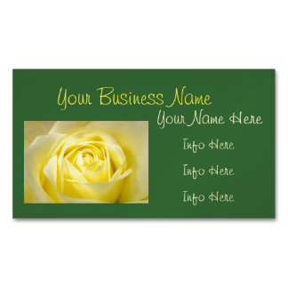 Yellow Rose Closeup Magnetic Business Cards