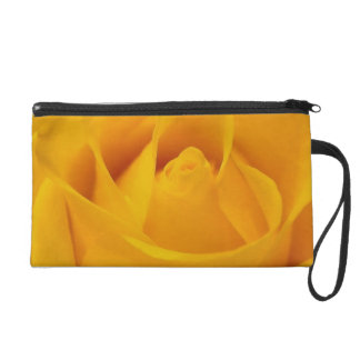 Yellow Rose Clutch Purse Wristlet Clutch