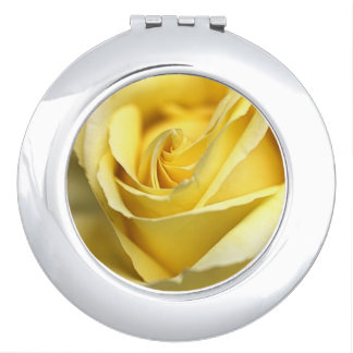 Yellow Rose Compact Mirror