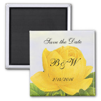 Yellow Rose Custom Save the Date Magnet