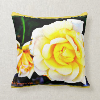 Yellow Rose Custom Throw Pillow