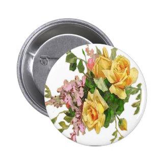 Yellow Rose Design Pin