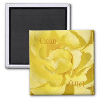 Yellow Rose Dishwasher Magnet