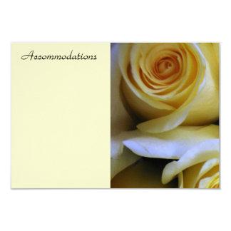 Yellow Rose Enclosure Card 9 Cm X 13 Cm Invitation Card