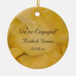 Yellow Rose Engagement Ornament