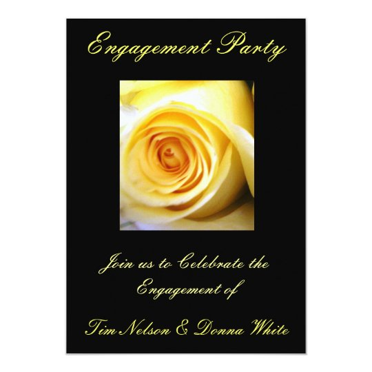Yellow Rose Engagement Party Invitation