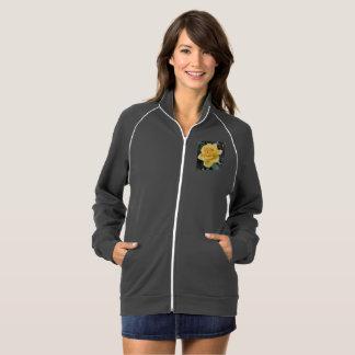 Yellow Rose Fleece Track Jacket