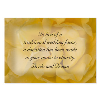 Yellow Rose Floral Wedding Charity Favor Card Pack Of Chubby Business Cards