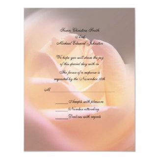Yellow Rose Floral Wedding Response RSVP Custom Announcement