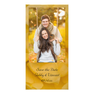 Yellow Rose Floral Wedding Save the Date Photo Card